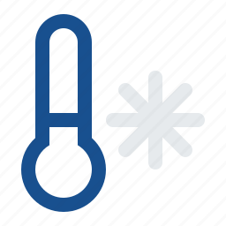 cold, cool, forecast, frost, frozen, snowflake, temperature, thermometer, weather, winter icon