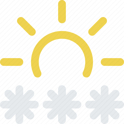 blizzard, day, frost, frozen, snow, storm, sun, weather icon