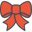 bow, christmas, holiday, ribbon, stripe, xmas icon