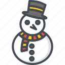 christmas, holiday, snowman, xmas icon