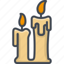 candle, christmas, holiday, xmas icon