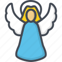 angel, christmas, holiday, xmas icon