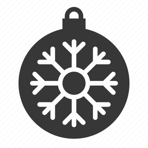 Ball, bauble, christmas, decoration, ornament, snowflake icon - Download on Iconfinder