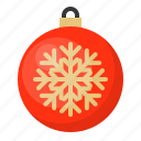 ball, bauble, christmas, decoration, ornament, snowflake