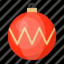 ball, bauble, christmas, decoration, ornament, zig zag