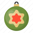 ball, bauble, christmas, decoration, ornament, star icon