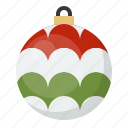ball, bauble, christmas, decoration, ornament icon