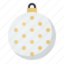 ball, bauble, christmas, decoration, dot, ornament