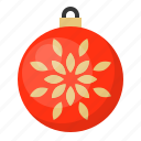 ball, bauble, christmas, decoration, flower, ornament