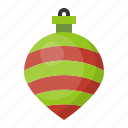 ball, bauble, christmas, decoration, ornament, stripe