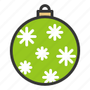 ball, bauble, christmas, decoration, ornament, snowflake icon