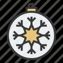 ball, bauble, christmas, decoration, ornament, snowflake