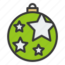 ball, bauble, christmas, decoration, ornament, star
