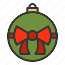 ball, bauble, bow tie, christmas, decoration, ornament icon