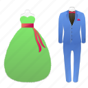 carnival, new year, suits icon