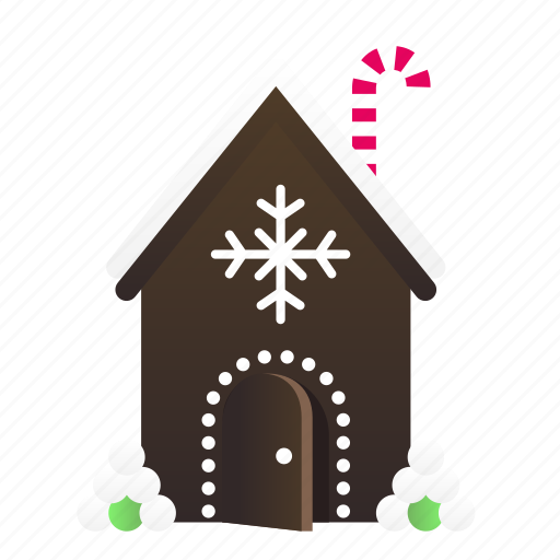 christmas, confection, gingerbread house icon