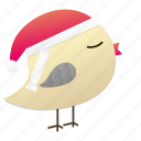 birdy, christmas, cute, santa, winter icon