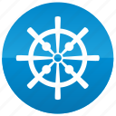 driver, helm, steer, wheel, yacht icon