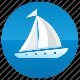boat, sailing, ship, yacht icon