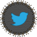 twitter, social network, patch, bird, seam, social, yama, tweet