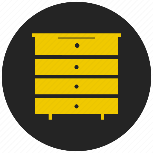 cupboard, desk drawers, furniture, safety, storage drawers icon