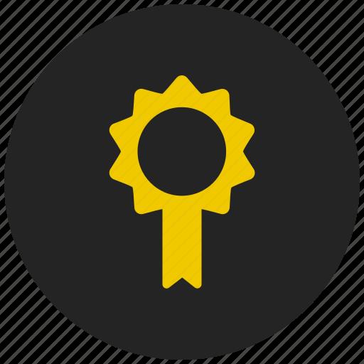 achievement, award, badge, medal, prize, ribbon badge, winner icon