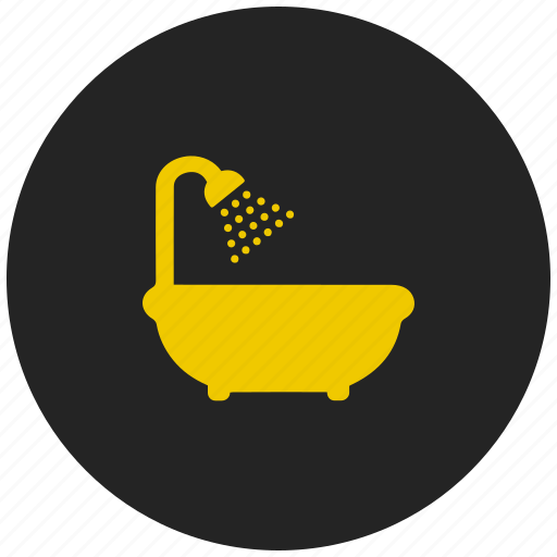 bath, bath tub, jacuzzi, shower, tub icon
