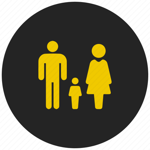 children, family, group, home, kid, parent, people icon