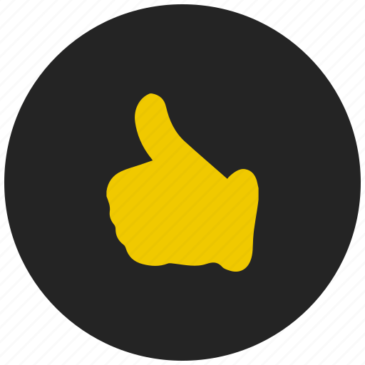 favourite, hand, like, social media, thumbs up icon