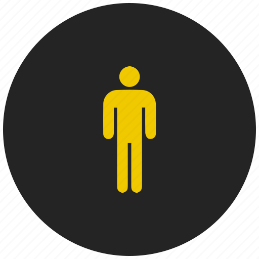 avatar, human, individual, male, person, toilet sign icon