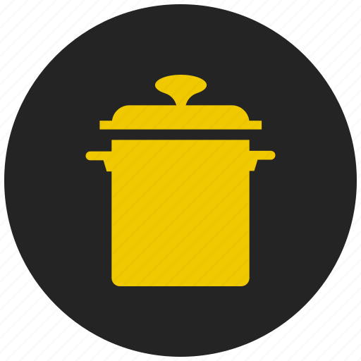 cookware, food, hot pot, pressure cooker, rice cooker, saucepan icon