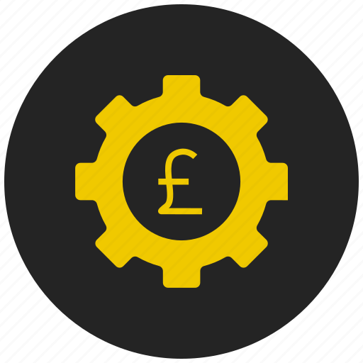 bank, currency, euro, finance, money, pounds, settings icon