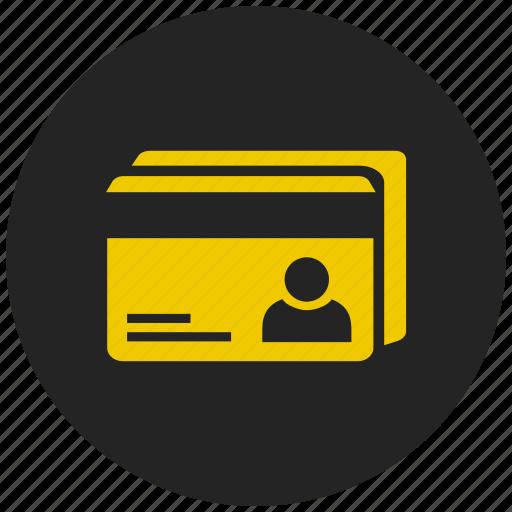 address card, atm, credit card, debit card, identity card, profiles, visiting card icon