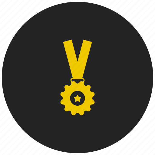 achievement, award, badge, medal, prize, ribbon badge, winner icon
