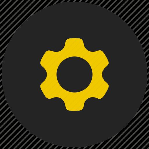 configuration, edit, gear, machine, settings, setup, system icon