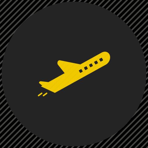 aeroplane, aircraft, flight, jet, plane, travel, upload icon