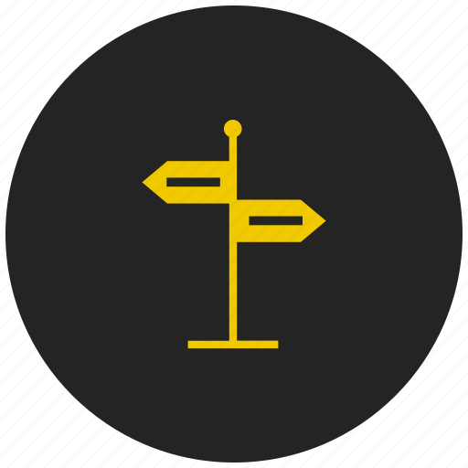 arrow, direction board, path guide post, road, streetboard, streetsign, way icon