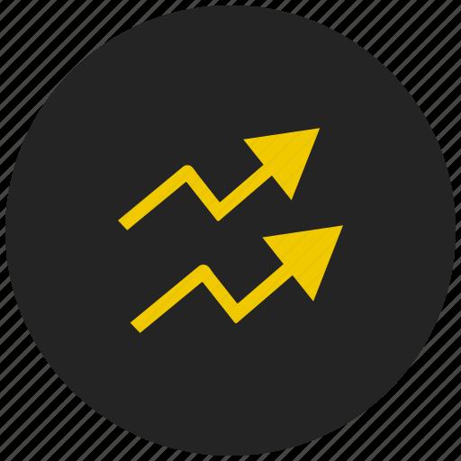 analysis, dashboard, finance, growth, line graph, report, statistics icon