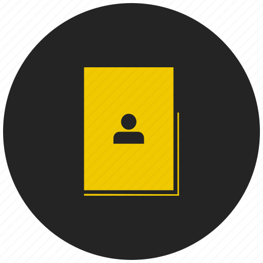 address book, contact book, directory, group, people, phone book, phone numbers icon