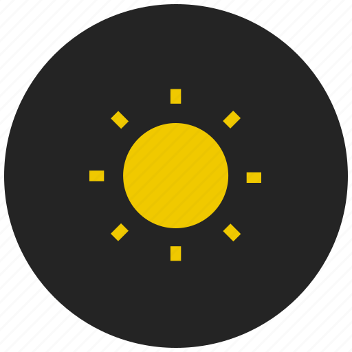 brightness, contrast, display, full brightness, screen, sun, weather icon