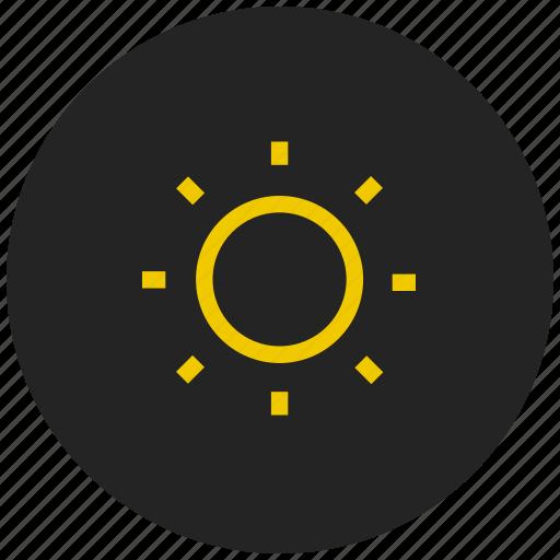 brightness, contrast, display, light, screen, sun, weather icon