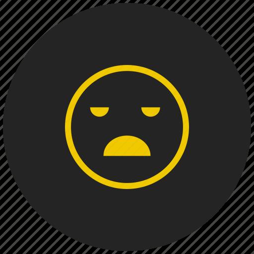 bad, emoji, fail, feeling, mood, sad, unhappy icon