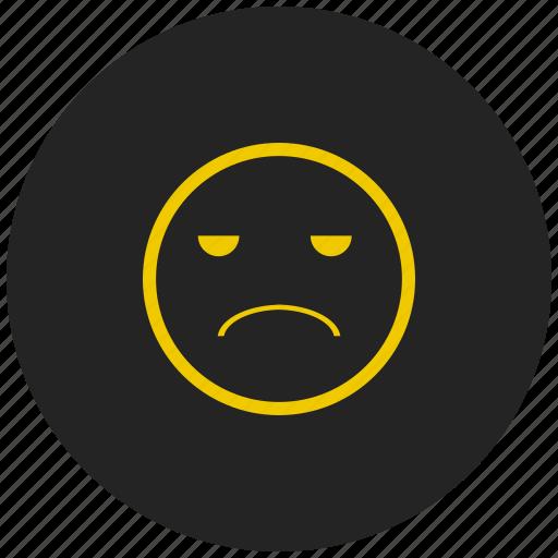 bad, emoji, fail, feeling, poor, sad, unhappy icon