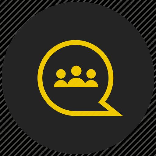 chat bubble, conversation, group chat, group message, message bubble, talk icon