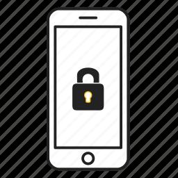 lock, password, phone, protection, security icon