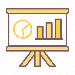 analyze, business, diagram, graph, presentation icon