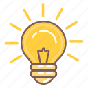 bulb, creative, idea, lamp, light icon