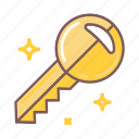 key, keyword, open, secret, security icon
