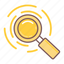 analyze, explore, glass, magnifier, magnifying, zoom icon