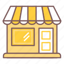 awning, building, door, marketing, shop, store icon